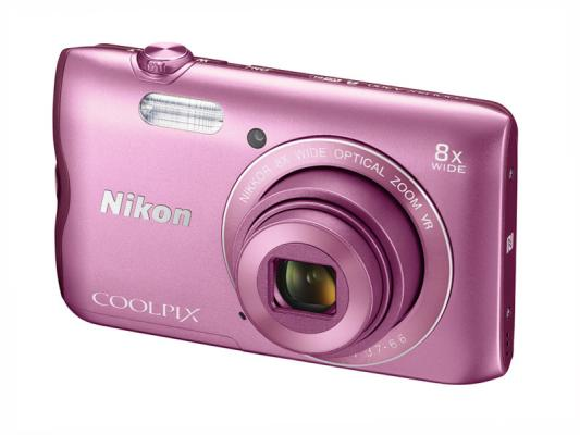 Фотоапарат Nikon Coolpix A300 Pink + 16GB SD карта + Калъф Case Logic PSL-16