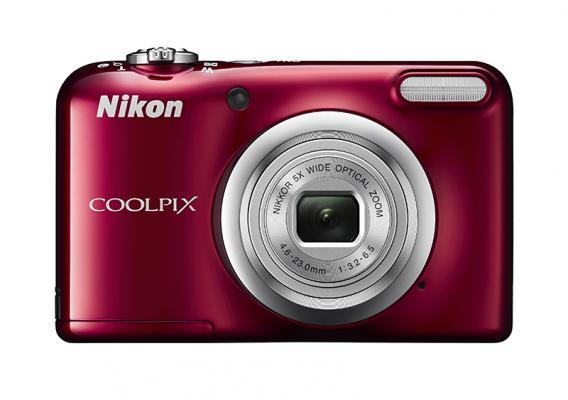 Фотоапарат Nikon Coolpix A10 Red + 4GB SD карта + Зарядно усторйство GP + 2 бр. AA x 2100mAh батерии