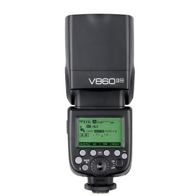 Светкавица Godox Ving V860IIN Nikon TTL, Godox 2.4G wireless X system + Li-Po батерия за GODOX Ving 850/860