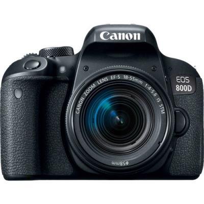 Фотоапарат Canon EOS 800D тяло + Обектив Canon EF-S 18-55mm f4-5.6 IS STM + Памет SDXC SanDisk Ultra 64GB (80MB/s)