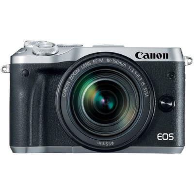 Фотоапарат Canon EOS M6 тяло Silver + Обектив Canon EF-M 18-150mm f/3.5-6.3 IS STM