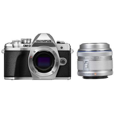 Фотоапарат Olympus OM-D E-M10 Mark III Silver тяло + Обектив Olympus M.Zuiko Digital 14-42mm f/3.5-5.6 II R