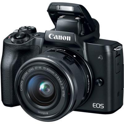 Фотоапарат Canon EOS M50 Black Тяло + Обектив Canon EF-M 15-45mm f/3.5-6.3 IS STM + Микрофон Boya BY-MM1 + Памет SDXC SanDisk Extreme Pro 64GB UHS-I U3 C10 V30 170MB/s + Гъвкав статив JOBY GorillaPod 1K Kit