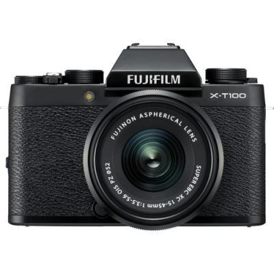 Фотоапарат Fujifilm X-T100 Black + Обектив Fujinon XC 15-45mm f/3.5-5.6 OIS PZ