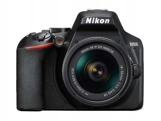 Фотоапарат Nikon D3500 Black + Обектив Nikon AF-P DX Nikkor 18–55 G VR
