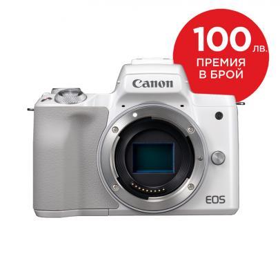 Фотоапарат Canon EOS M50 White Тяло + Памет SDHC Toshiba EXCERIA 32GB (Class 10)