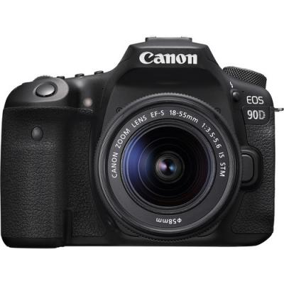 Фотоапарат Canon EOS 90D тяло + Обектив Canon EF-S 18-55mm f3.5-5.6 IS STM