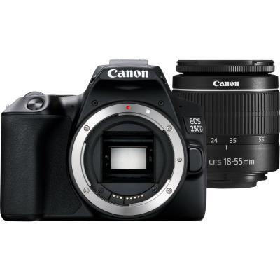 Фотоапарат Canon EOS 250D Black тяло + Обектив Canon EF-S 18-55mm III
