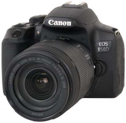 Фотоапарат Canon EOS 850D + обектив Canon EF-S 18-135mm STM
