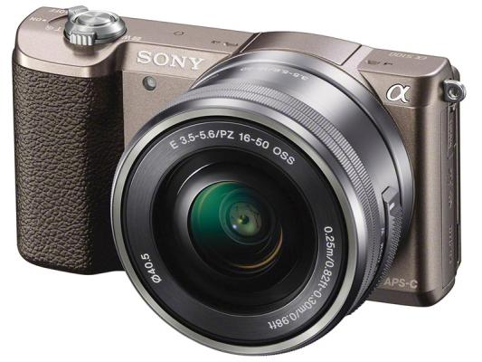 Фотоапарат Sony Alpha A5100 Brown Kit (16-50mm OSS)