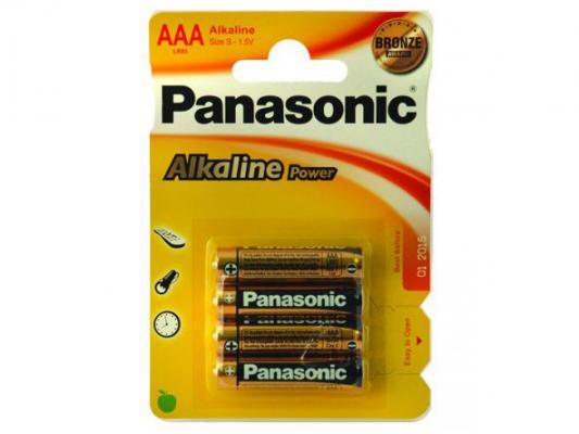 Алкални батерии AAA Panasonic Alkaline Power LR03-4бр.