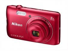 Фотоапарат Nikon Coolpix A300 Red + 8GB SD карта + Калъф Case Logic PSL-16
