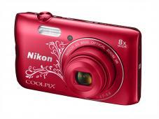 Фотоапарат Nikon Coolpix A300 Red Lineart + 16GB SD карта + Калъф Case Logic PSL-16