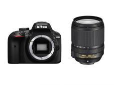 Фотоапарат Nikon D3400 Black тяло + Обектив Nikon AF-S DX Nikkor 18-140mm f/3.5-5.6G ED VR