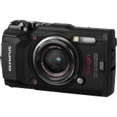 Фотоапарат Olympus TG-5 Black + Olympus CHS-09 RED HANDSTRAP (непотъваща връзка)