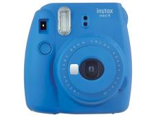 Моментален фотоапарат Fujifilm Instax Mini 9 Cobalt Blue + Моментален филм Fuji Instax mini Airmail (10л.)