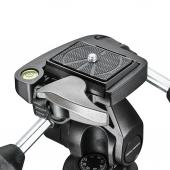 Статив Manfrotto 290 Dual комплект с 3-позиционна глава и 90° колона