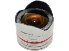 Обектив Samyang 8mm f/2.8 UMC Fish-eye II за Fujifilm X-mount (сребрист)
