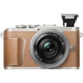 Фотоапарат Olympus E-PL9 Brown тяло + Обектив Olympus ZD Micro 14-42mm f/3.5-5.6 EZ ED MSC  + Обектив Olympus M.Zuiko Digital 45mm f/1.8 Black