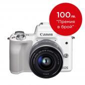 Фотоапарат Canon EOS M50 WhiteТяло + Обектив Canon EF-M 15-45mm f/3.5-6.3 IS STM
