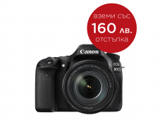Фотоапарат Canon EOS 80D тяло + Обектив Canon EF-S 18-135mm f/3.5-5.6 IS Nano USM