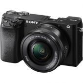 Фотоапарат Sony Alpha A6100 тяло +  Обектив Sony E PZ 16-50mm f/3.5-5.6 OSS + Обектив Sony E 50mm f/1.8 OSS (SEL50F18) Black