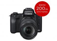 Фотоапарат Canon EOS M50 Black + Обектив Canon EF-M 18-150mm f/3.5-6.3 IS STM + Памет SDXC SanDisk Extreme 64GB UHS-I V30 U3 150MB