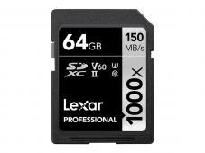 Памет SDXC Lexar Professional 64GB UHS-II U3 C10 V60 150MB/s