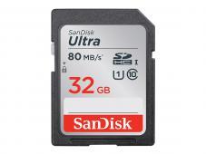 Памет SDHC SanDisk Ultra 32GB UHS-I U1 C10 80MB/s
