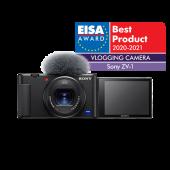 Фотоапарат за влогинг Sony ZV-1 + Батерия Li-Ion Sony NP-BX1 + Памет SDHC SanDisk Extreme 32GB UHS-I U3 C10 V30 90MB/s