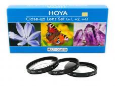 Комплект макро лещи Hoya +1, +2, +4D 55mm II