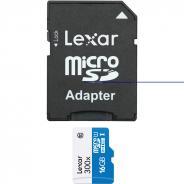Памет microSDHC Lexar 16GB U1 (300x) с адаптер