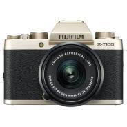 Фотоапарат Fujifilm X-T100 Champagne + Обектив Fujinon XC 15-45mm f/3.5-5.6 OIS PZ