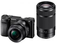 Фотоапарат Sony Alpha A6000 Black Kit (16-50mm OSS + 55-210mm OSS)