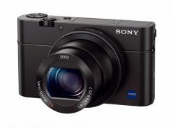 Фотоапарат Sony Cyber-Shot DSC-RX100 III + Кожен калъф Sony LCS-RXG + Приставка за захващане Sony AG-R2