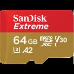 Памет microSDXC SanDisk Extreme 64GB V30 160MB/s